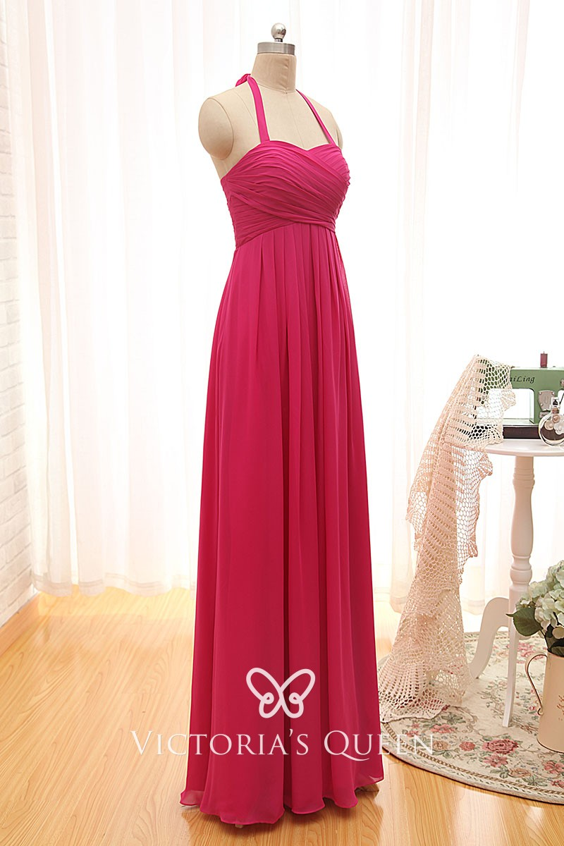 Chiffon Bridesmaid Prom Ballgown A-Line Colour Sample This Is Not A Dress UK