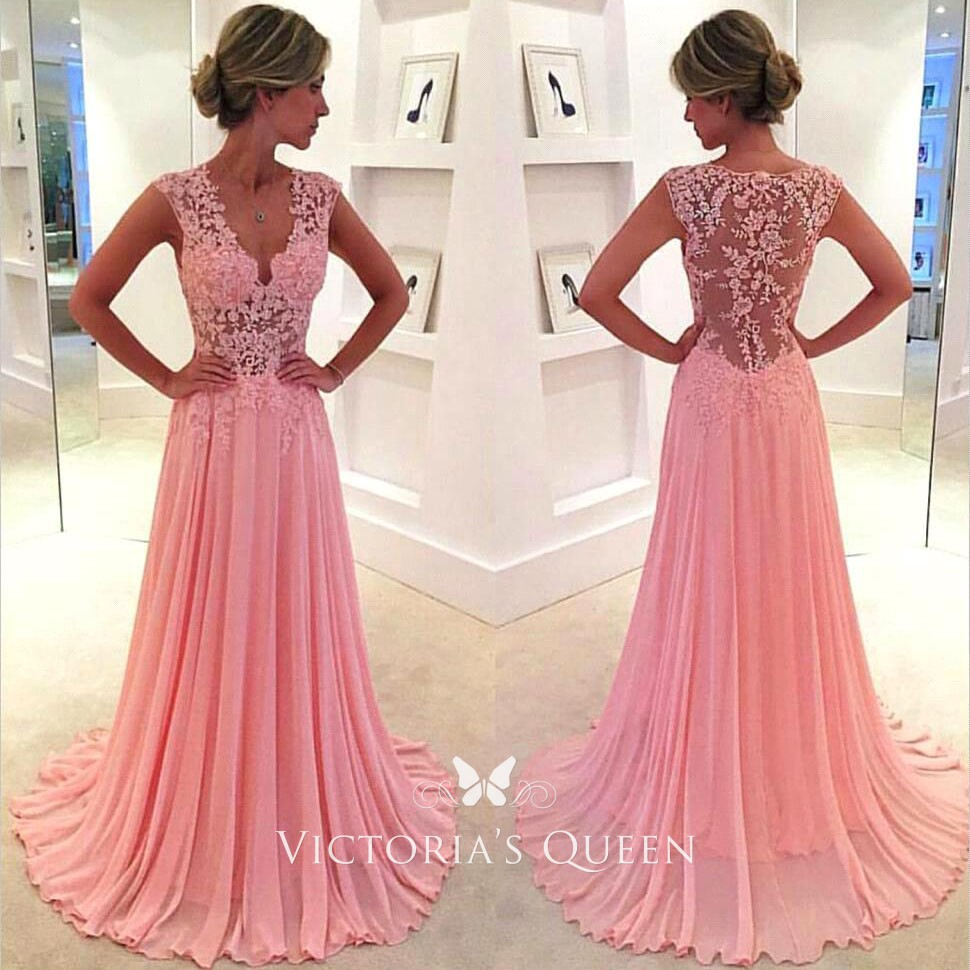 lace pink dresses,lace dresses for prom,lace homecoming dresses pink,long homecoming dresses pink,floor length lace prom dresses,prom dress pink,a line prom dresses,