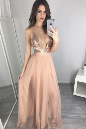 b588b6770a944 Gorgeous Gold Formal Dresses | Rose Gold Evening Prom Gowns ...