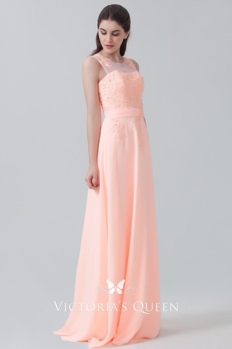 Pink Bridesmaid Dresses with Sleeves
