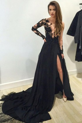 Amazing Galaxy Ombre Red Sequin on Black Mesh Mermaid Floor Length ... 72169135f