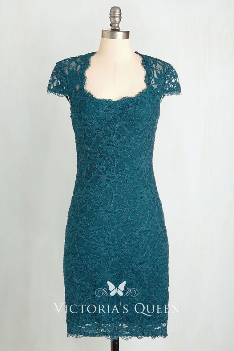 Bridesmaid Lace Sheath Dress