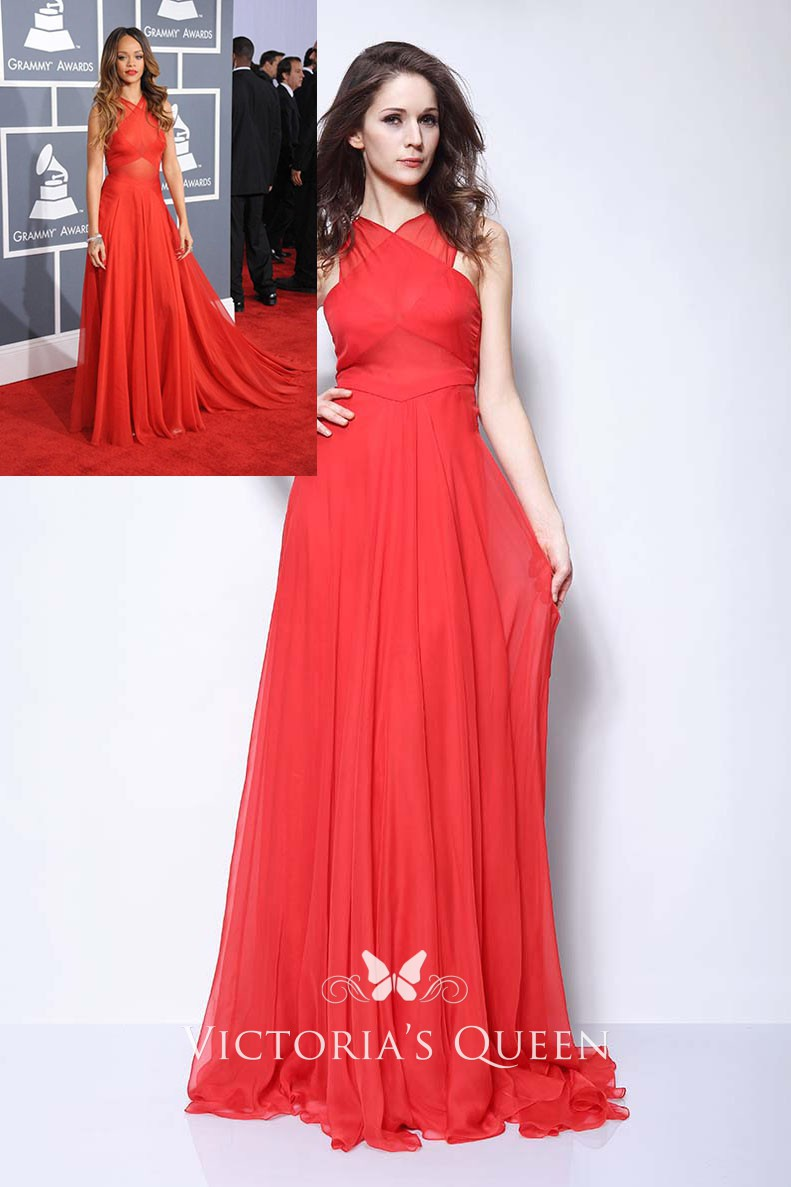 criss cross strap red chiffon red carpet prom dress vq criss cross strap red chiffon red carpet prom dress