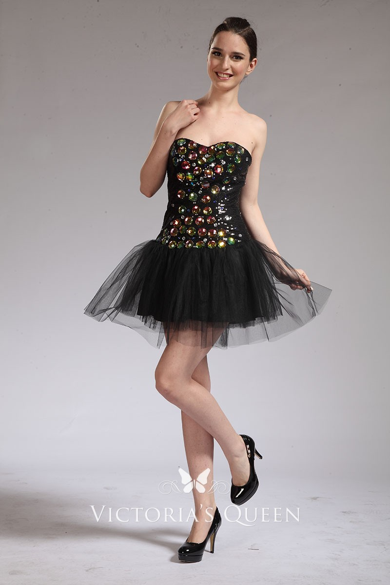 b782a4b99da6 Multi-color Rhinestone Sweet 16 Black Celebrity Cocktail Dress ...