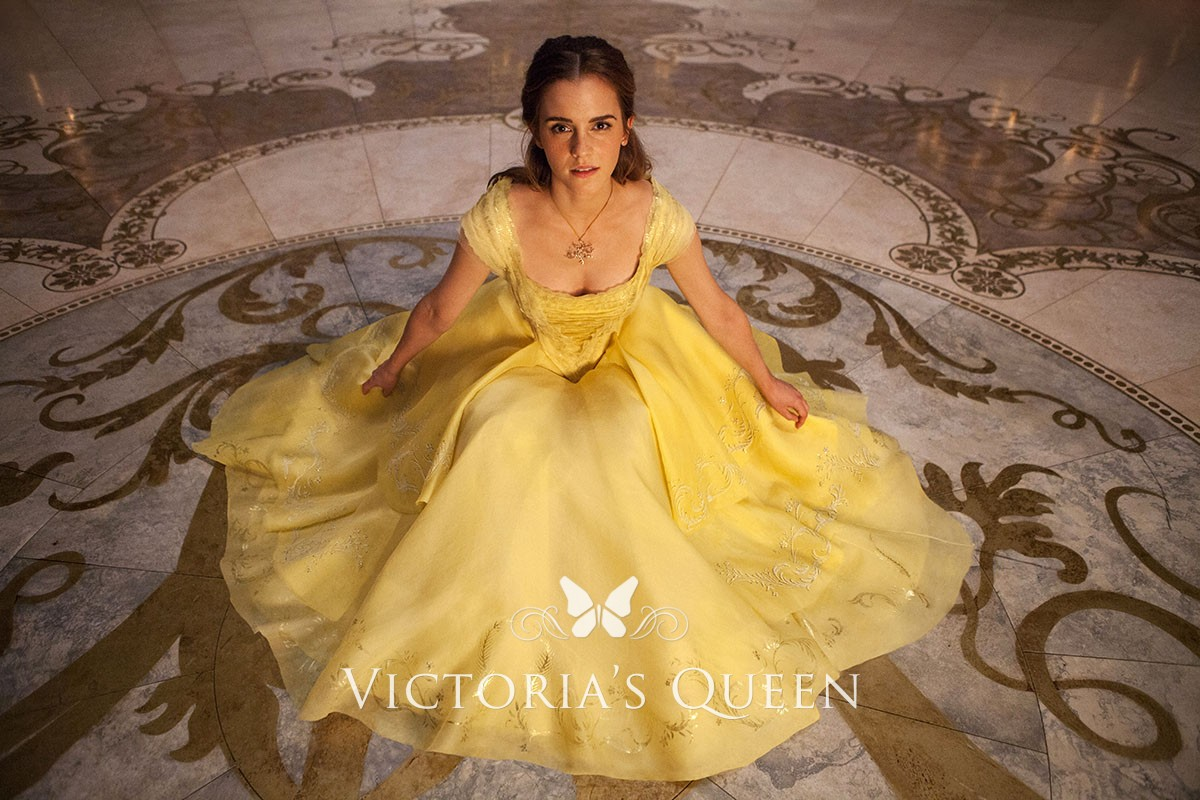 Emma Watson Yellow Dress In Beauty And The Beast 2017 Vq