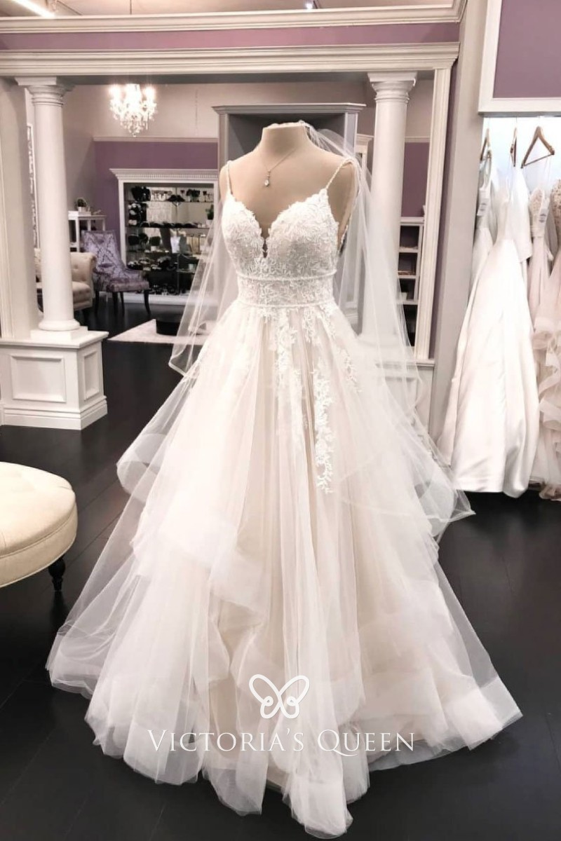 Tulle Flounce Designer Wedding Dress