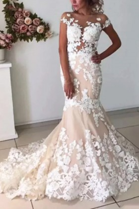 Classic Illusion Sweetheart Lace Tulle Wedding Ballgown - VQ