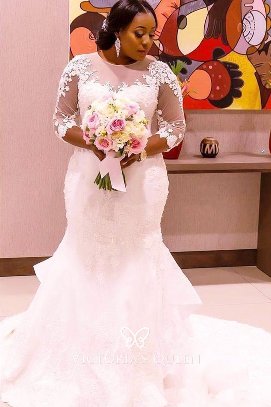 Buy plus size wedding dresses with lace sleeves> OFF 18