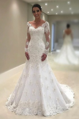 Scalloped Wedding Dresses Bridal Gowns With Scalloped Neckline And Edge Vq