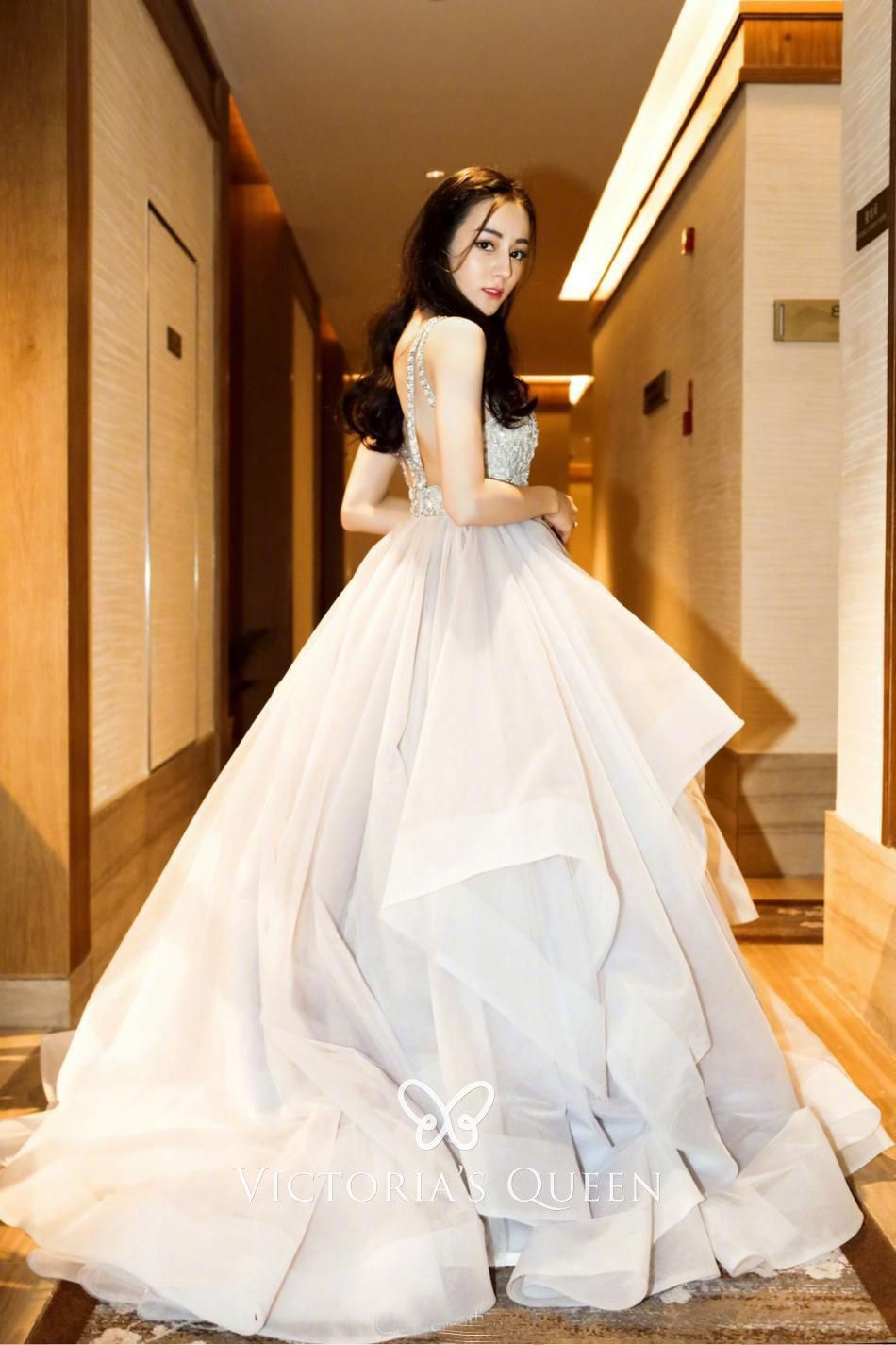 87ec95ad5eff13 gorgeous blush lace and tulle flounced sleeveless ball gown wedding dress