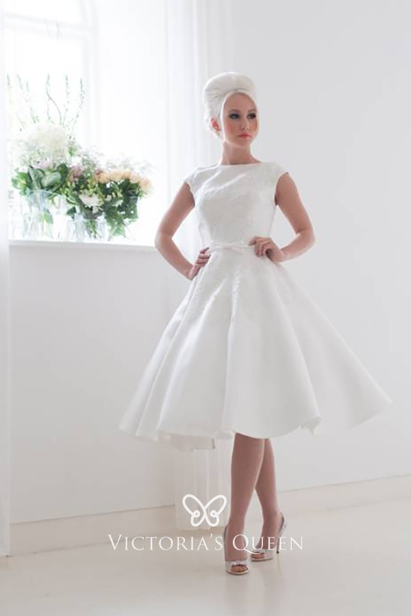 elegant short white wedding dresses